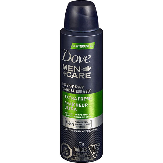 Dove Men+Care Extra Fresh Dry Spray Anti-Perspirant - 107g