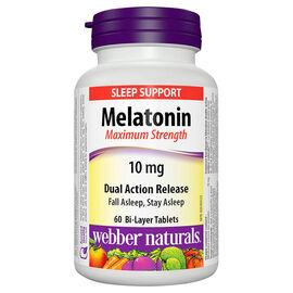 Webber Naturals Melatonin 10mg - Dual Action Release Tablets - 60's