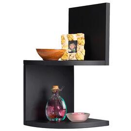 Priva Corner Shelves - Black - 2 pack