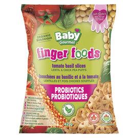 Baby Gourmet Finger Foods - Tomato Basil Slices - 42g