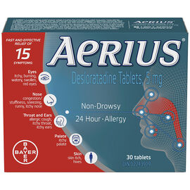 Aerius Allergy - 24 hours - 5mg/30's