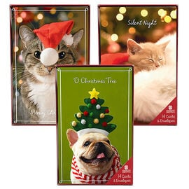 American Greetings Christmas Cards - Christmas Pets - 14 count - Assorted