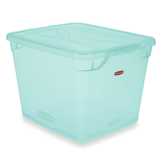 Rubbermaid Cleverstore Tote - Teal - 28.3L