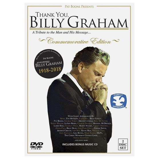 Thank You, Billy Graham: Commemorative Edition - DVD + CD Combo