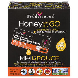 Wedderspoon On The Go 100% Raw Manuka Honey - 120g