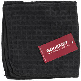 Boutique Microfibre Large Waffle Weave Dish Cloth - Black - 2 pack