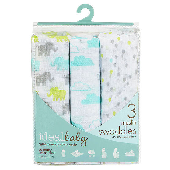 Ideal Baby Swaddles - 3 pack - Ellie - IB104F