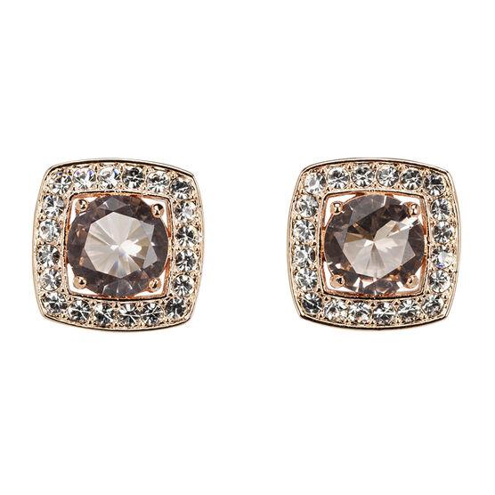 Eliot Danori Frame Stud Earrings - Peach
