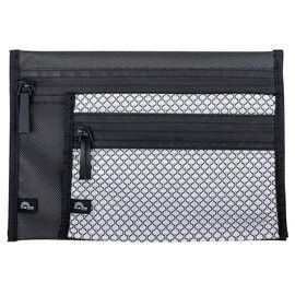 Porte Play Flat Pouch Set - Black/Grey - 2 piece