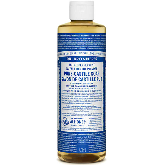 Dr. Bronner's 18-IN-1 Pure-Castile Liquid Soap - Peppermint - 473ml