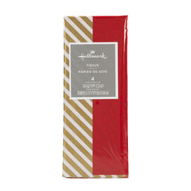 Christmas Tissue - Red/Gold Striped - 4 sheets