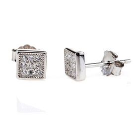 Charisma Sterling Silver Square Stud Earrings