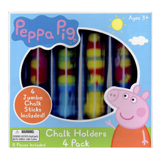 Peppa Pig Chalk Holders - 4 pieces