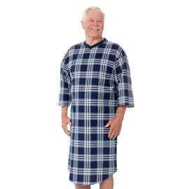 Silvert's Men's Open-Back Flannel Nightgown - Small - XL