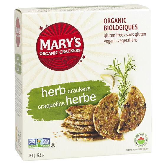 Mary's Organic Crackers - Herb - 184g