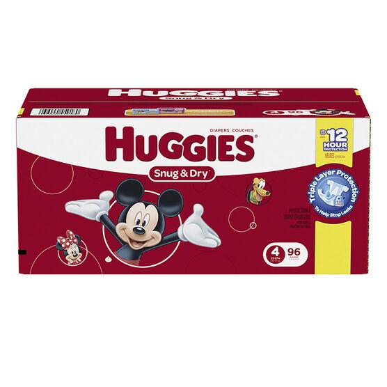 Huggies Snug & Dry Diapers - Size 4 - 96's