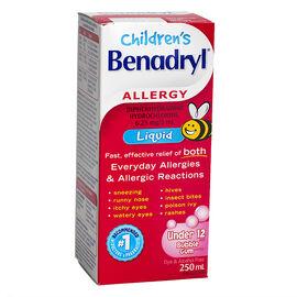 Benadryl Children's Liquid - Bubblegum - 250ml