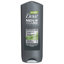 Dove Men+Care Elements Minerals+Sage Body & Face Wash - 400ml