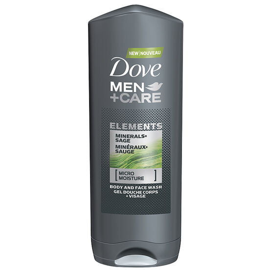 Dove Men+Care Elements Minerals+Sage Body & Face Wash - 400ml