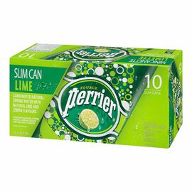 Perrier Slim Can - Lime - 10 pack