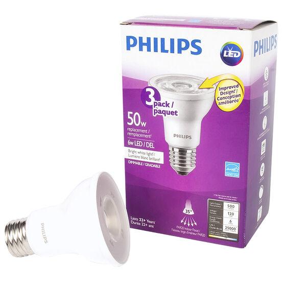 Philips PAR20 LED - Bright White - 6w/50w