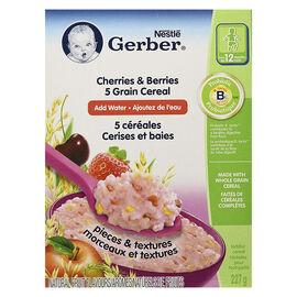 Gerber Cherries and Berries - Five Grain Toddler Cereal - 227g