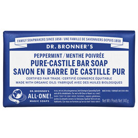 Dr. Bronner's Pure-Castile Bar Soap - Peppermint - 140g