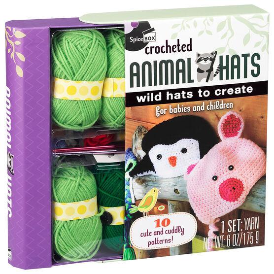 Spicebox Animal Hats Crochet Kit