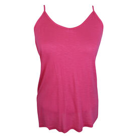 Lava Cami with Side Slits - Hot Pink