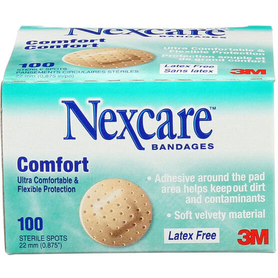3M Nexcare Comfort Strips Circular Spot Bandages - 100's