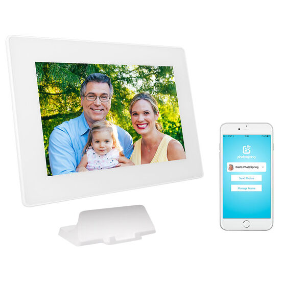 PhotoSpring 10.1-inch Digital Picture Frame - White - PS101-16