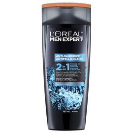 L'Oreal Men Anti-Dandruff 2-in-1 Shampoo & Conditioner for All Hair Types - 385ml