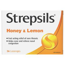 Strepsils Lozenges - Honey & Lemon - 36's