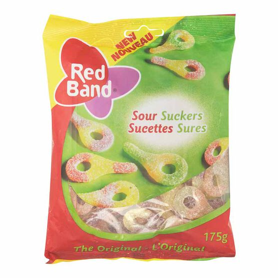 Red Band Sour Suckers - Original - 175g