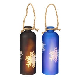 London Drugs LED Bottle Lamp - Snowflakes - Assorted
