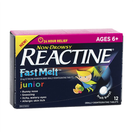 Reactine Allergy Fast Melts Junior - 12's