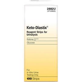 Ascensia Keto-Diastix Reagent Strips - 100's
