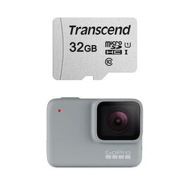 GoPro Hero 7 White with Transcend 32GB MicroSD card Bundle - PKG #20431