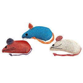 Burlap Mice - 3 pack
