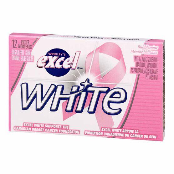 Excel White Gum - Bubblemint - 12 piece
