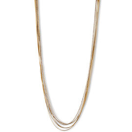Lonna Lilly Multi Row Chain Necklace - 36 inches