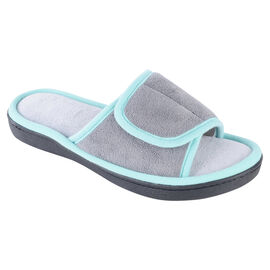 Isotoner Women's Microterry Adjustable Slide Slipper