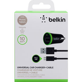Belkin Micro USB Car Charger - Black - F8M668BT04