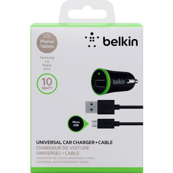 Belkin Micro USB Car Charger - Black - F8M668BT04