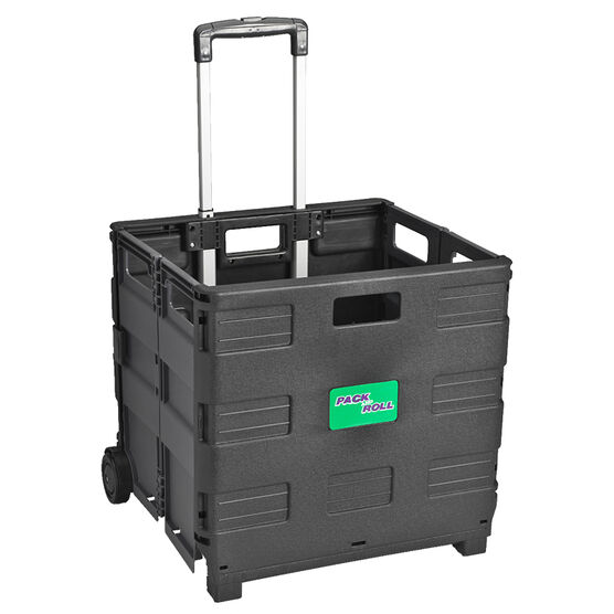 London Drugs Folding Trolley Box - Black/Grey
