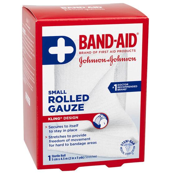 Johnson & Johnson Rolled Gauze - 2inch x 5yards
