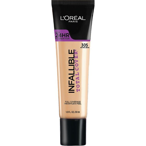 L'Oreal Infallible Total Cover Foundation - Natural Beige