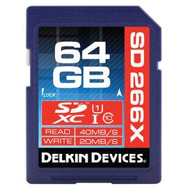 Delkin 64GB SDXC 163X UHS-I Memory Card - DDSD26664GB-A