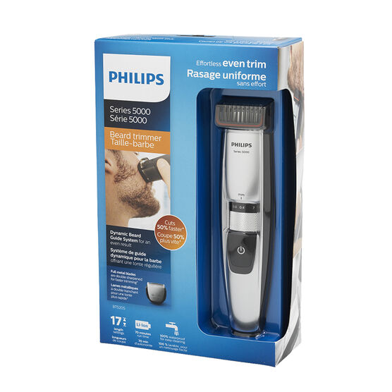Philips Rechargeable Beard Trimmer 5000 - Blue/Black - BT5202/16