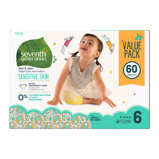 7th Generation Diapers - Stage 6 - 60s